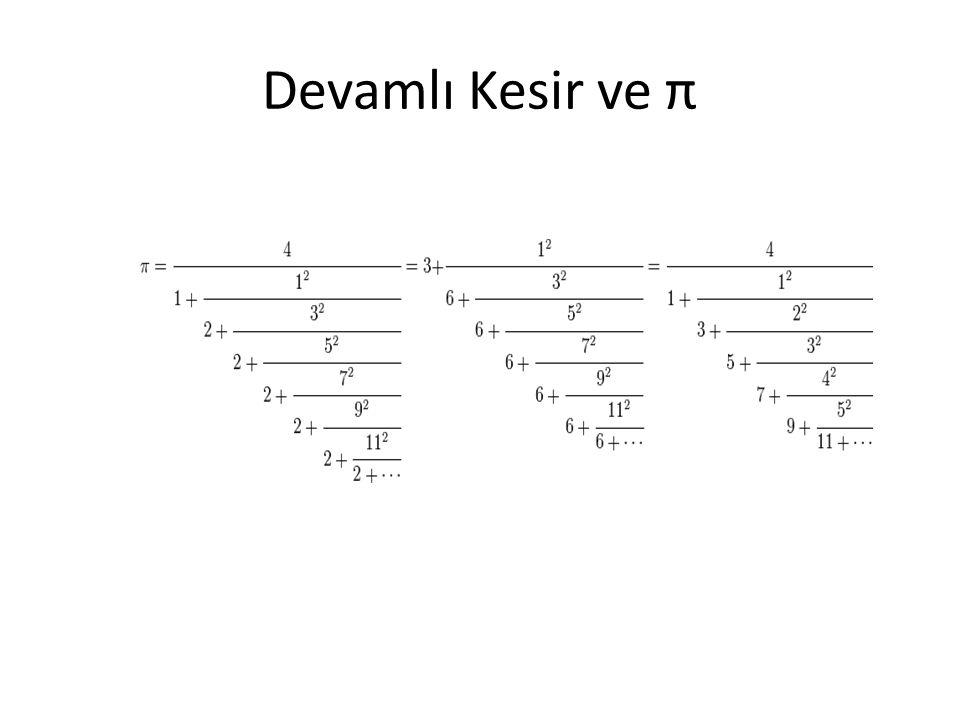 Devamlı Kesir ve π