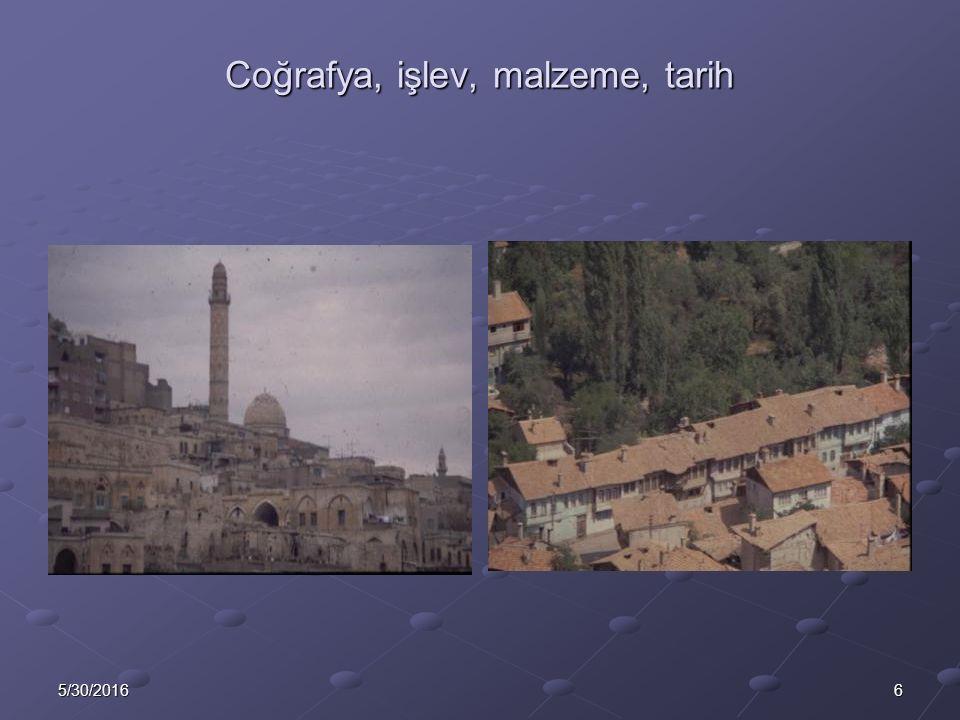 75/30/2016 Coğrafya, işlev, malzeme, tarih, mülkiyet
