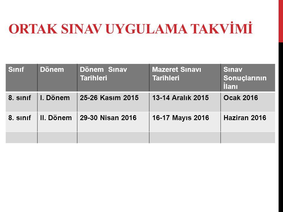2015-2016 Eğitim Öğretim Yılı sonunda Ortaöğretime geçiş TEOG SİSTEMİ ile gerçekleşecektir.