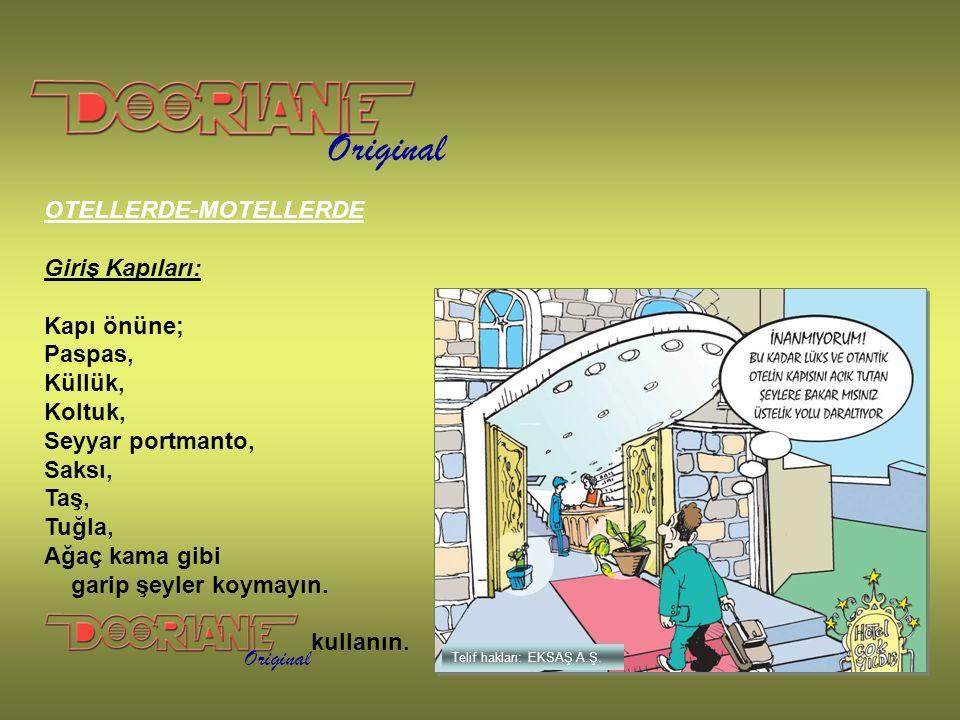 Original Telif hakları: EKSAŞ A.Ş.