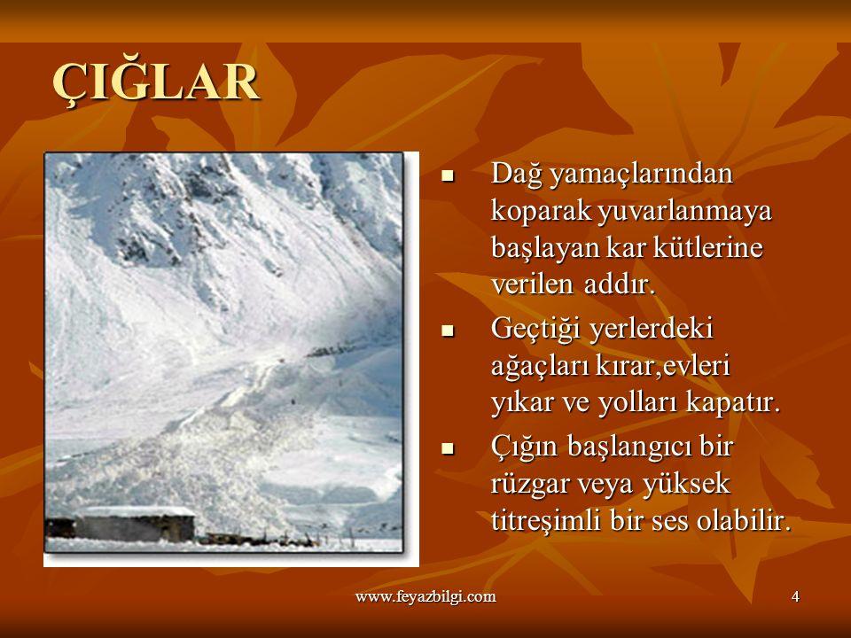 DOĞAL AFETLER www.feyazbilgi.com3