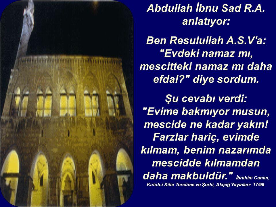 Abdullah İbnu Sad R.A.