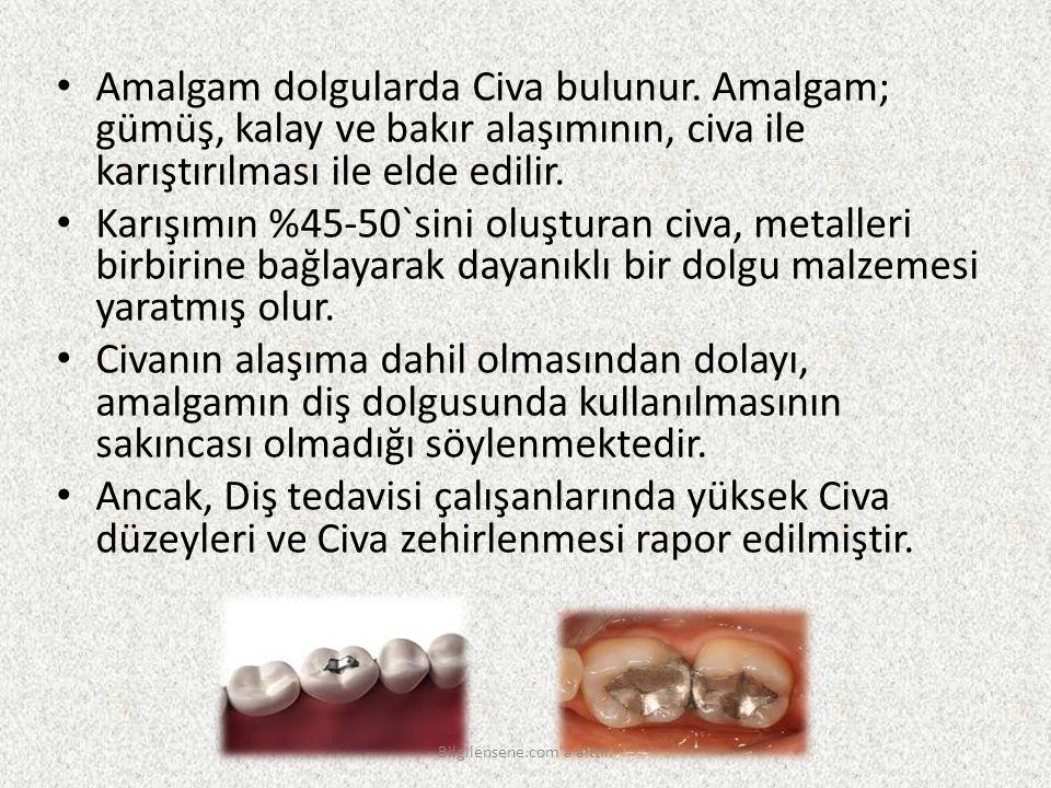 Amalgam dolgularda Civa bulunur. Amalgam; gümüş, kalay ve bakır alaşımının, civa ile karıştırılması ile elde edilir. Karışımın %45-50`sini oluşturan c