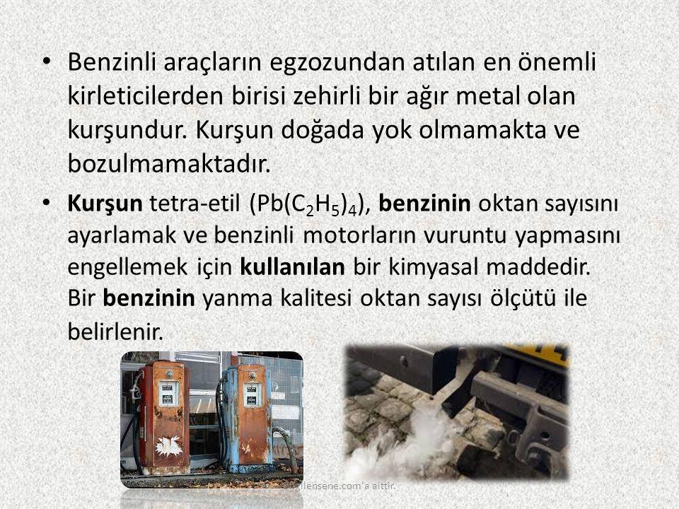 Benzinli araçların egzozundan atılan en önemli kirleticilerden birisi zehirli bir ağır metal olan kurşundur. Kurşun doğada yok olmamakta ve bozulmamak