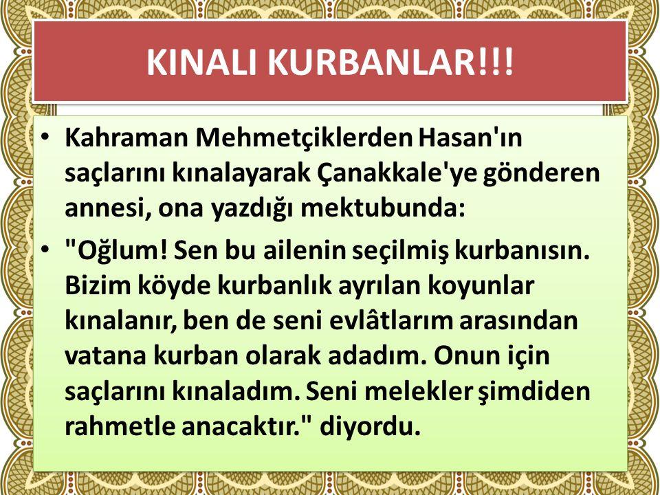 KINALI KURBANLAR!!.