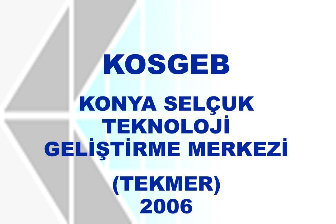 KOSGEB KONYA SELÇUK TEKNOLOJİ GELİŞTİRME MERKEZİ (TEKMER) 2006