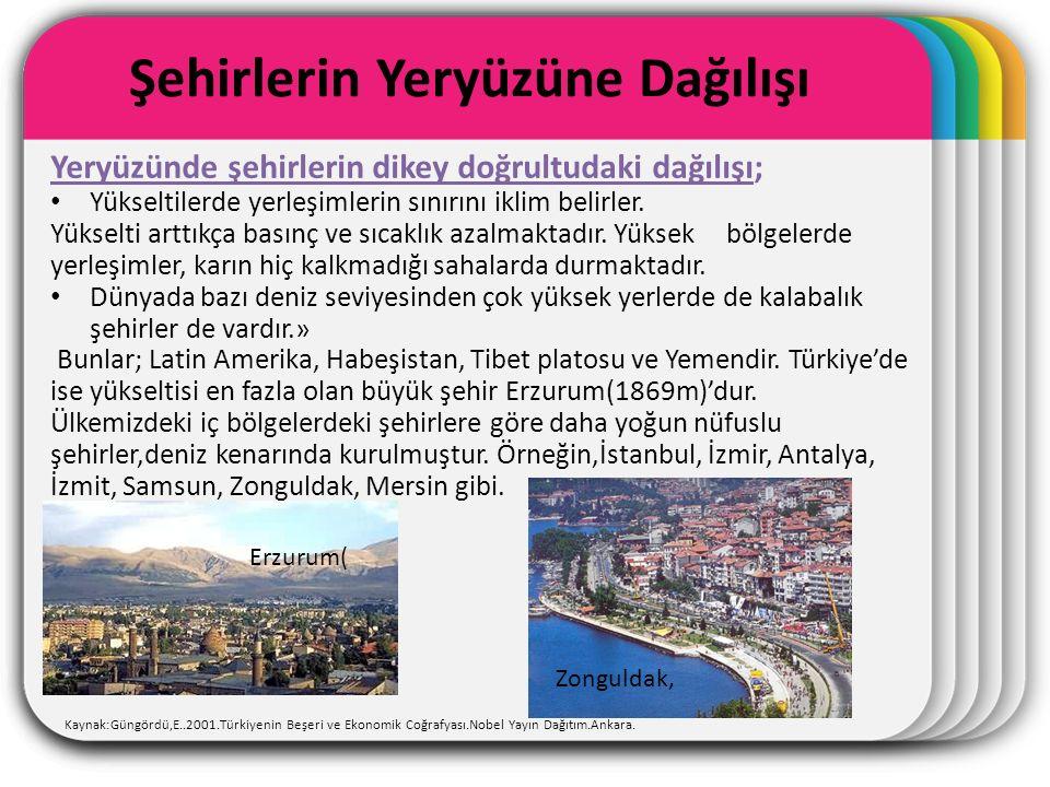 WINTER Template Şehirlerin Yeryüzüne Dağılışı Kaynak:Güngördü,E..2001.Türkiyenin Beşeri ve Ekonomik Coğrafyası.Nobel Yayın Dağıtım.Ankara. Yeryüzünde