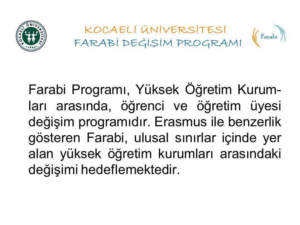 Farabi Programı, Yüksek Öğretim Kurum- ları arasında, öğrenci ve öğretim üyesi değişim programıdır.