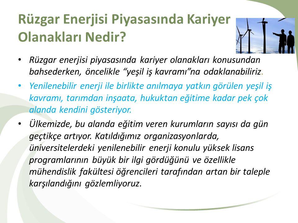 """Rüzgar Enerjisi Piyasasında Kariyer Olanakları Nedir? Rüzgar enerjisi piyasasında kariyer olanakları konusundan bahsederken, öncelikle """"yeşil iş kavra"""