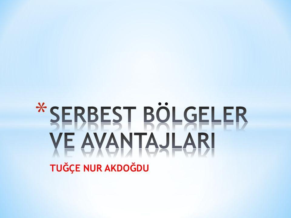 Serbest ticaret bölgeleri, Türkİye sınırları içinde ancak gümrük bölgesi dışında kalan bölgeler olup, bu bölgelerde dış ticaret ve diğer mali ve ekonomik konulara ilişkin mevzuat uygulanmaz.