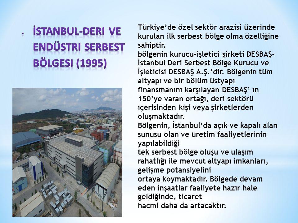 Türkiye'de özel sektör arazisi üzerinde kurulan ilk serbest bölge olma özelliğine sahiptir.