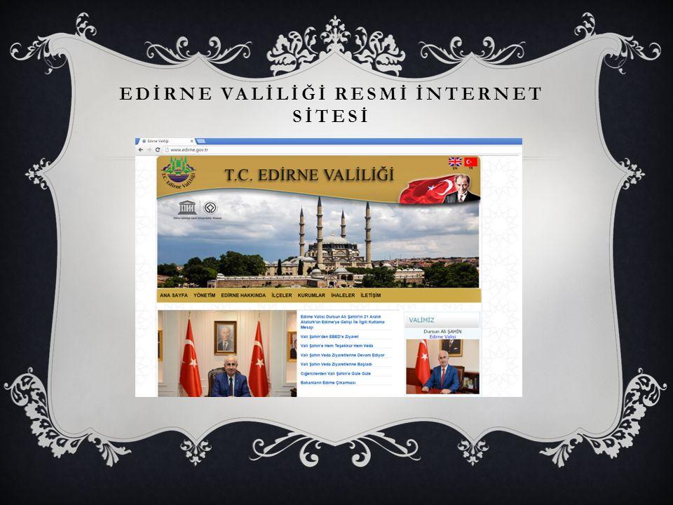 EDİRNE VALİLİĞİ RESMİ İNTERNET SİTESİ