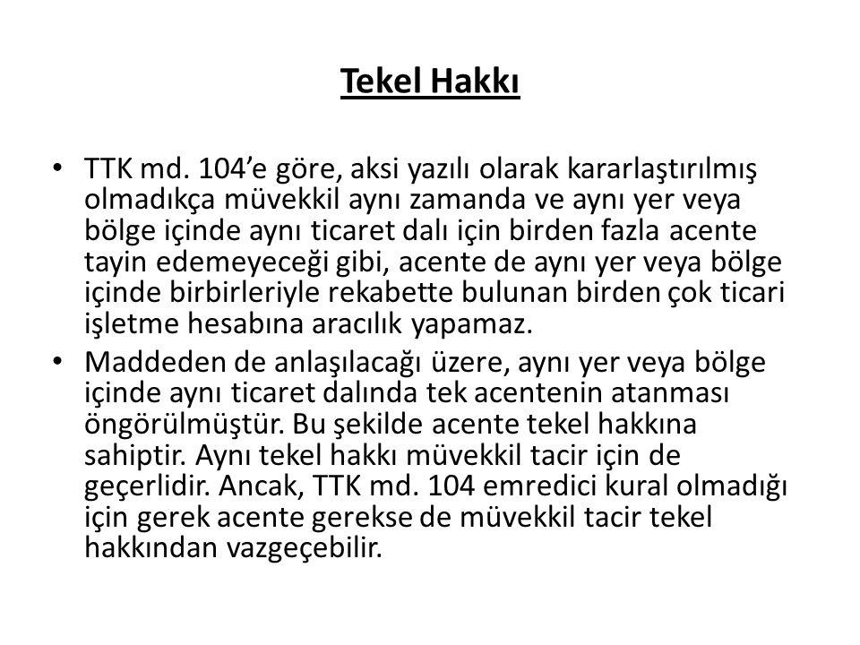 Tekel Hakkı TTK md.