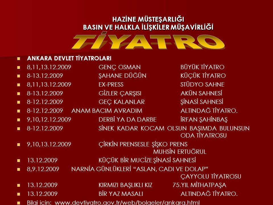 HAZİNE MÜSTEŞARLIĞI BASIN VE HALKLA İLİŞKİLER MÜŞAVİRLİĞİ GENÇLİK OYUNU - KAZANDIK! 8,9.12.2009Saat: 20.00Yapım: Tiyatro Tempo Türkiye'deki üniversite