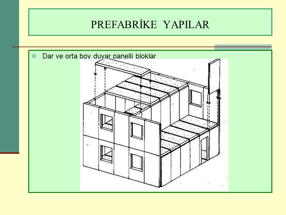 PREFABRİKE YAPILAR Dar ve orta boy duvar panelli bloklar