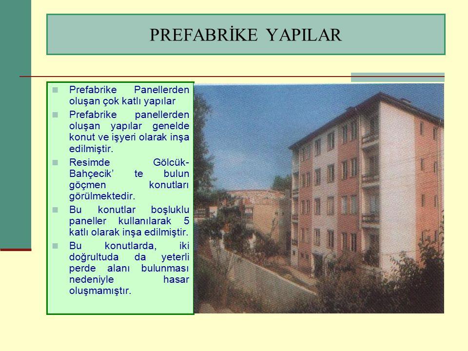 PREFABRİKE YAPILAR Prefabrike Panellerden oluşan çok katlı yapılar Prefabrike panellerden oluşan yapılar genelde konut ve işyeri olarak inşa edilmişti
