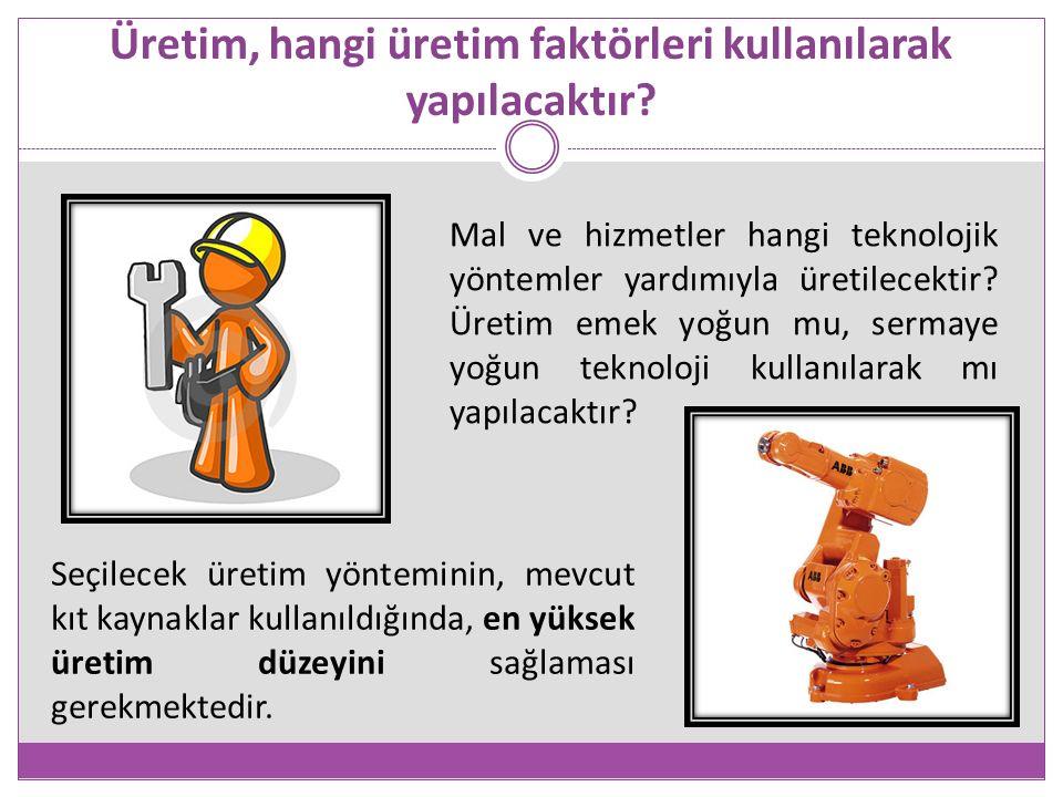 Üretim, hangi üretim faktörleri kullanılarak yapılacaktır.