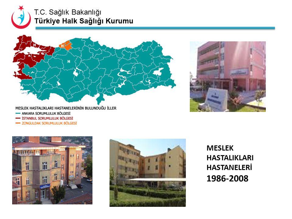 T.C. Sağlık Bakanlığı Türkiye Halk Sağlığı Kurumu MESLEK HASTALIKLARI HASTANELERİ 1986-2008