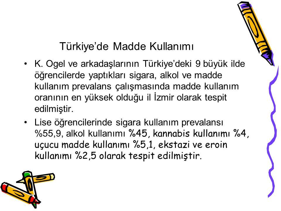 Türkiye'de Madde Kullanımı K.
