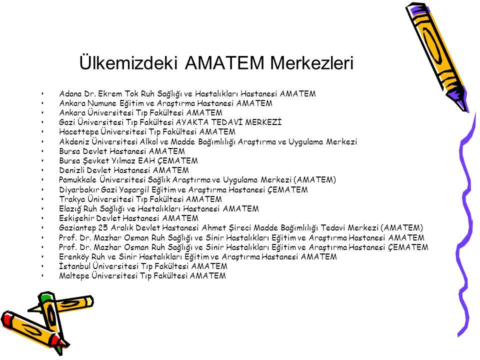 Ülkemizdeki AMATEM Merkezleri Adana Dr.