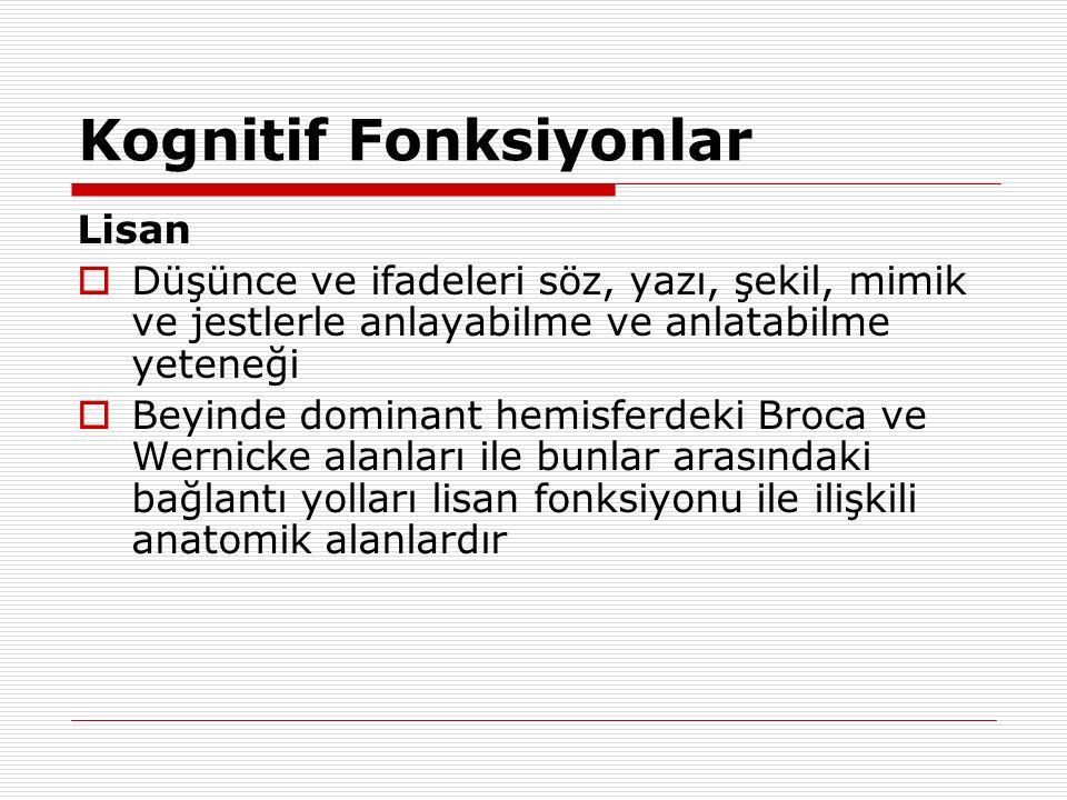 Primer (Dejeneratif) Demanslar  Alzheimer hastalığı  Lewy Cisimcikli Demans  Fronto-temporal Demans Pick hastalığı ALS ile birlikte Kromozom 17-FTD Nonspesifik fokal atrofiler  Prion hastalıkları Creutzfeldt-Jacob hastalığı Gerstmann-Sträussler- Scheinker Fatal familyal insomni  Subkortikal Demasnlar (Motor bozuklukla birlikte) ALS-Parkinson-Demans kompleksi Huntington hastalığı Kortiko-basal dejenerasyon Multi sistem atrofiler Hallervorden-Spatz hastalığı Wilson hastalığı Progresif supranükleer paralizi