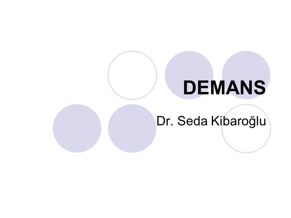 DEMANS Dr. Seda Kibaroğlu