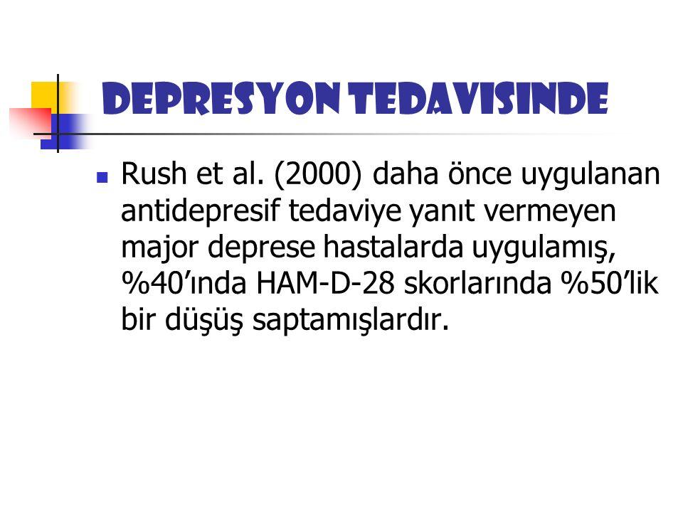 Depresyon tedavisinde Rush et al.