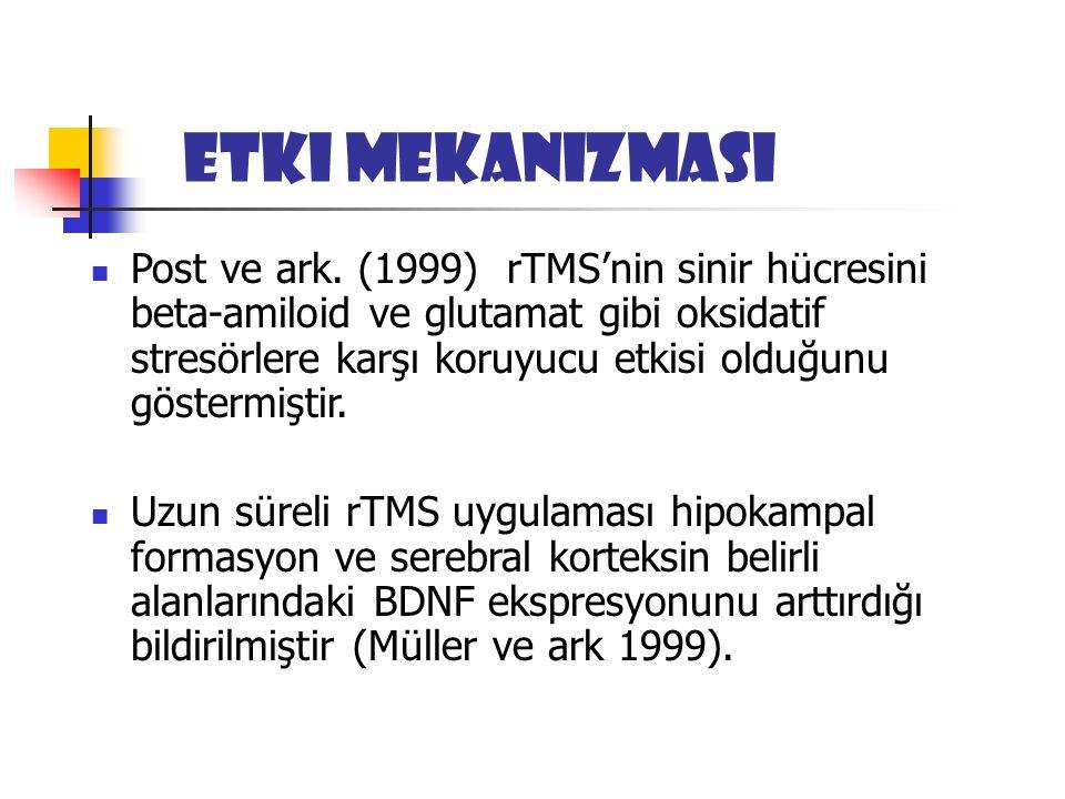 Etki mekanizması Post ve ark.