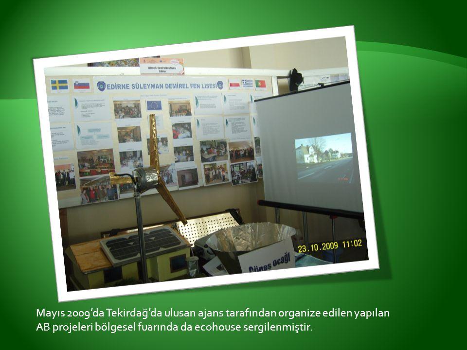 Mayıs 2009'da Tekirdağ'da ulusan ajans tarafından organize edilen yapılan AB projeleri bölgesel fuarında da ecohouse sergilenmiştir.