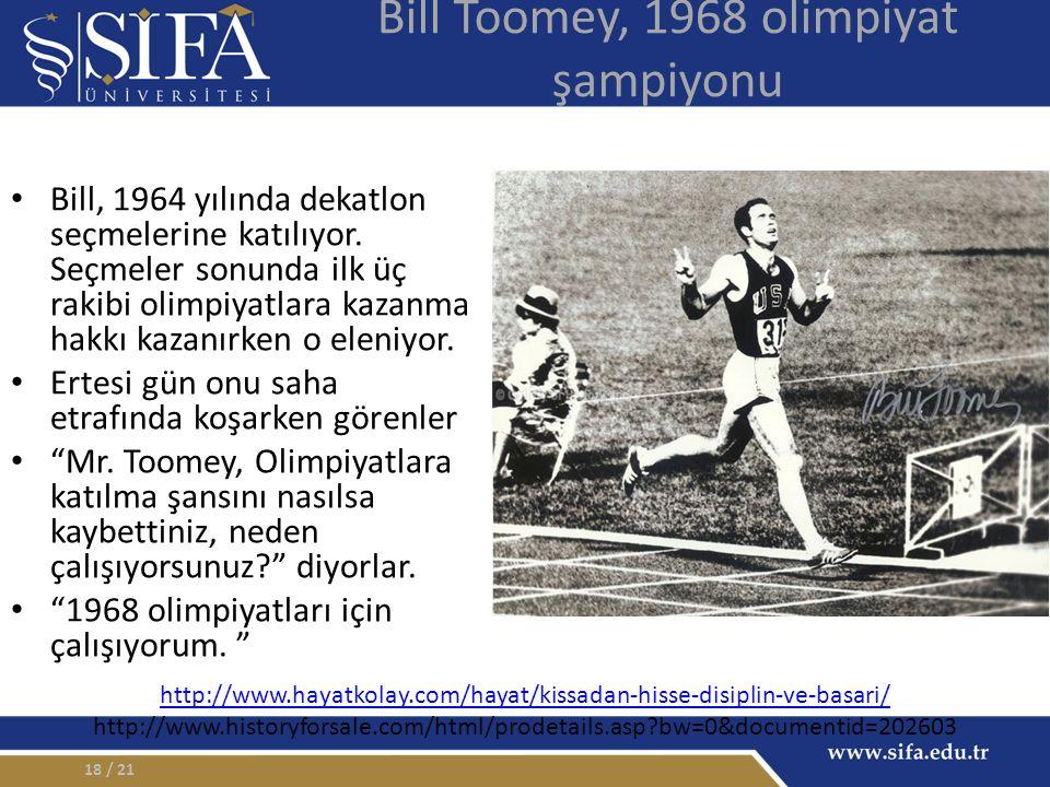 Bill Toomey, 1968 olimpiyat şampiyonu Bill, 1964 yılında dekatlon seçmelerine katılıyor.