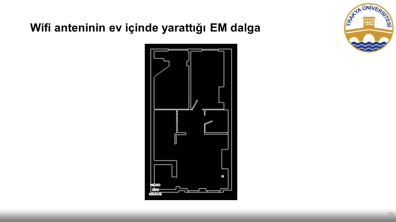 Wifi anteninin ev içinde yarattığı EM dalga 15