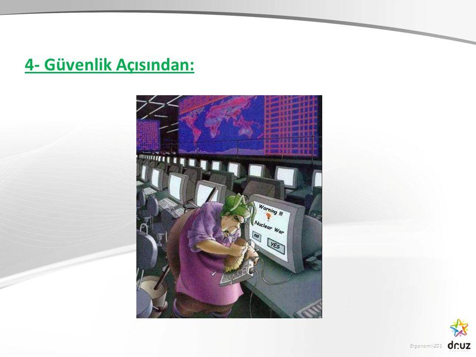 Ergonomi-201 4- Güvenlik Açısından: