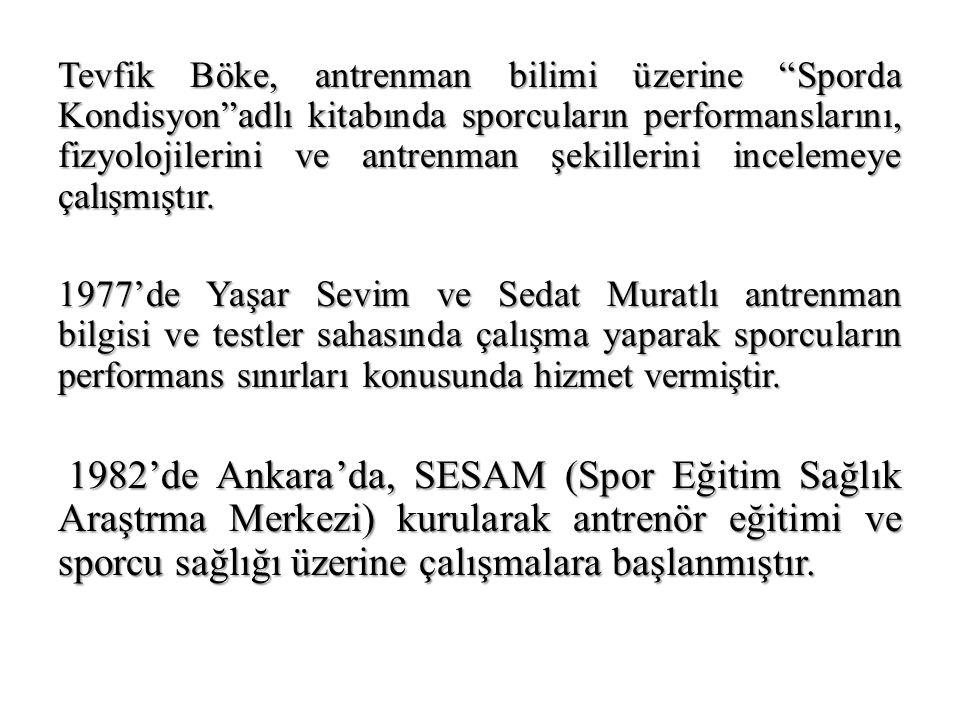 1982'de Necati Akgün Egzersiz Fizyolojisi adlı kitabında antrenman bilimi üzerine çalışma yapmıştır.