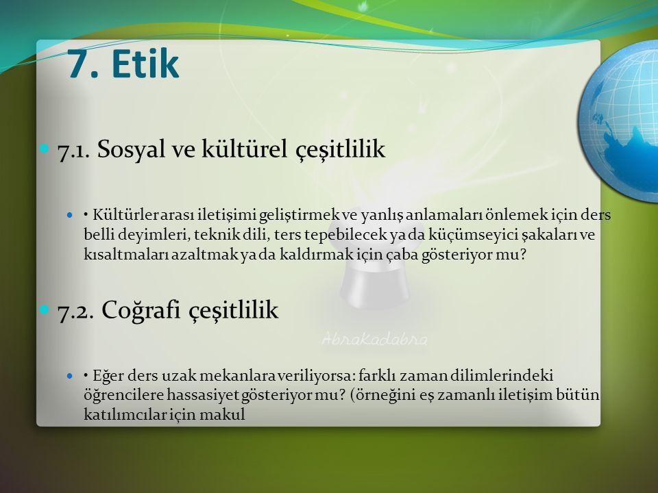 7. Etik 7.1.