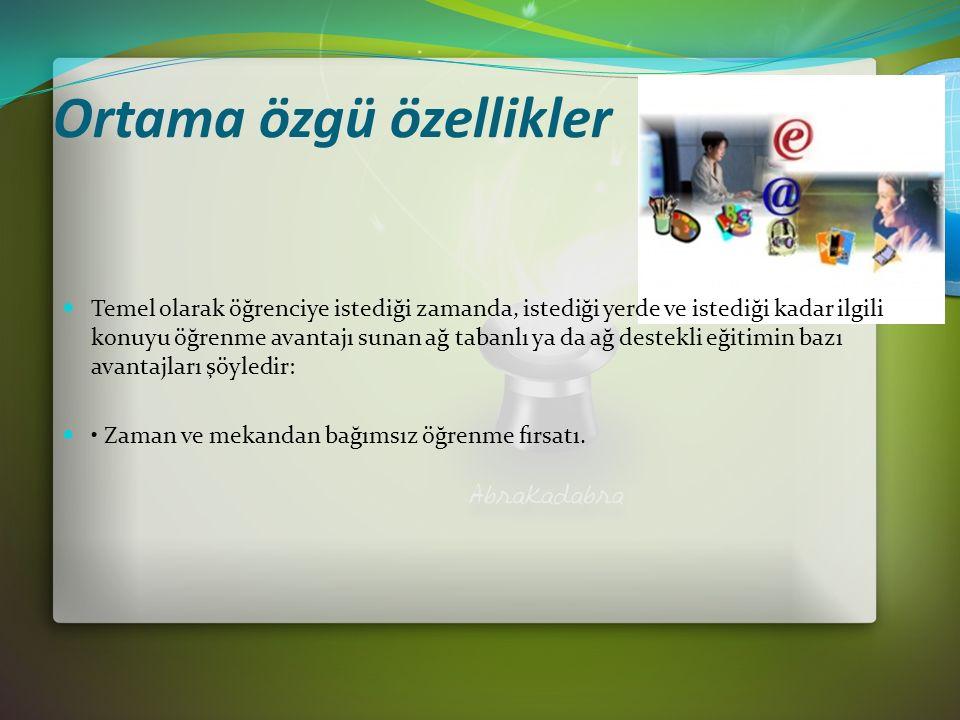 Ekran Paylaşımı Öğretmen ve öğrenciler arasında dosya paylaşımında kullanılır.