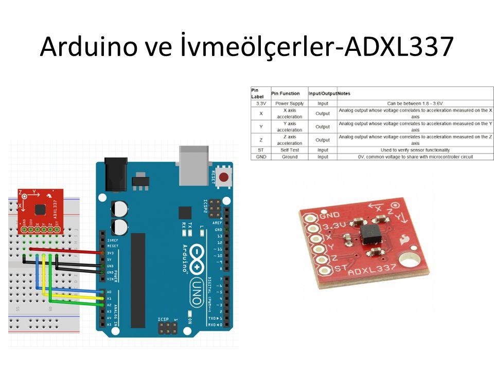 Arduino ve İvmeölçerler-ADXL337