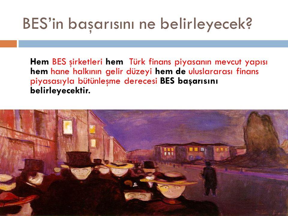 BES'in başarısını ne belirleyecek? Hem BES şirketleri hem Türk finans piyasanın mevcut yapısı hem hane halkının gelir düzeyi hem de uluslararası finan