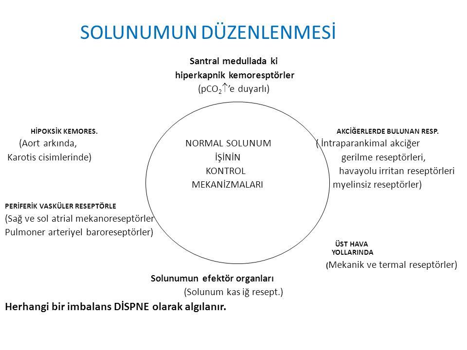 Tip I solunum yetersizliği nedenleri 1.V/Q anormallikleri: Pulmoner Ödem Pnomoni Atelektazi 2.