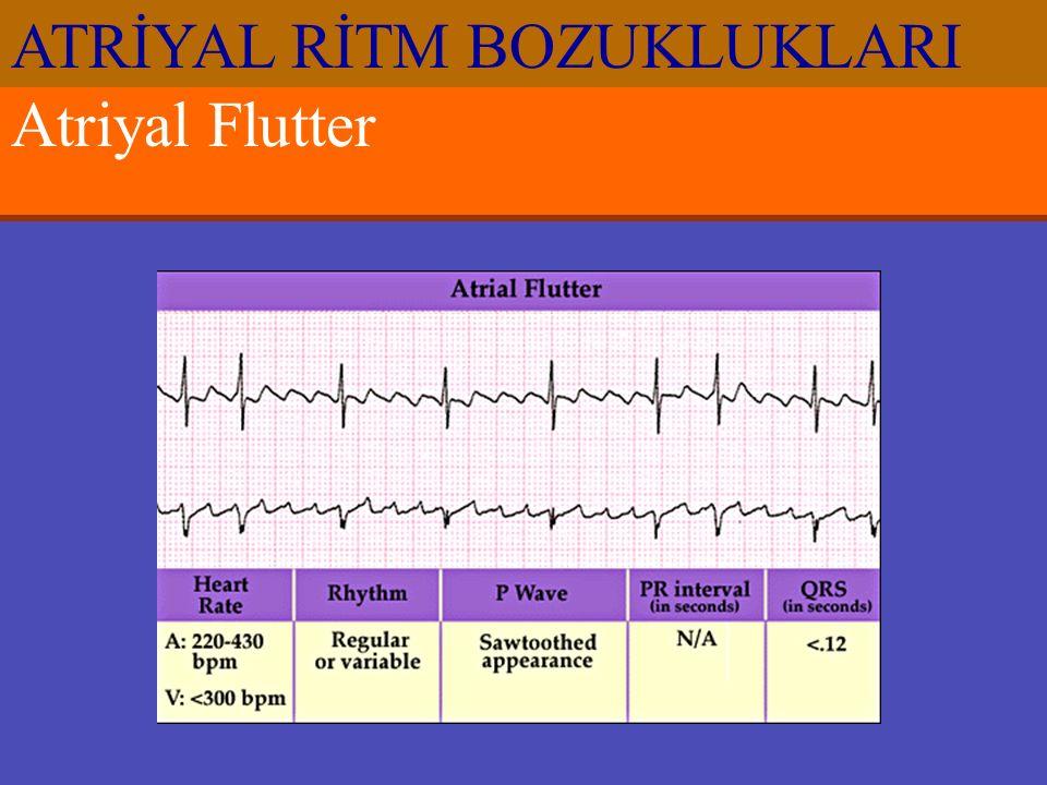 Atriyal Flutter ATRİYAL RİTM BOZUKLUKLARI