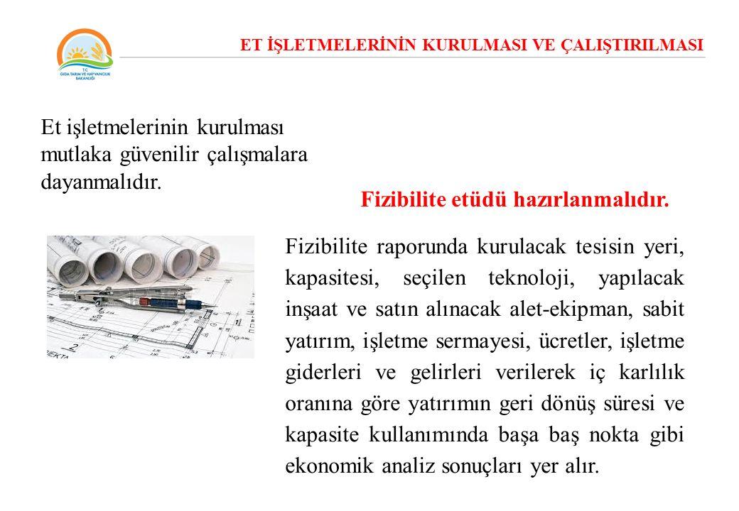 İşletmenin üretim bölümleri ayrı ayrı planlanmalı, bölümler arasında ısı ve nemden korunmak için güvenlik önlemleri alınmalıdır.