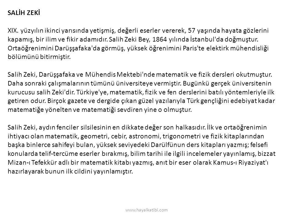 SALİH ZEKİ XIX.