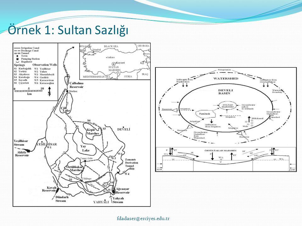 Örnek 1: Sultan Sazlığı fdadaser@erciyes.edu.tr