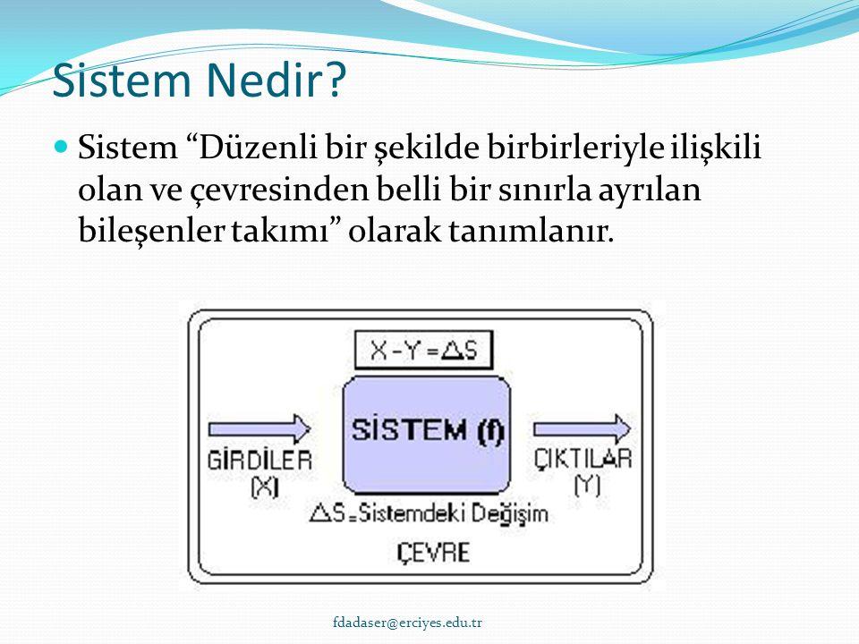 Sistem Nedir.