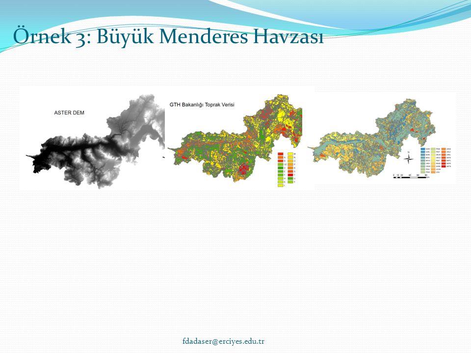 SONUÇ Örnek 3: Büyük Menderes Havzası fdadaser@erciyes.edu.tr