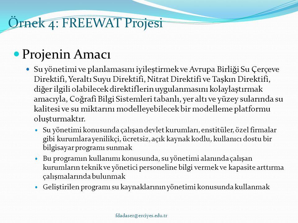 Projenin Amacı Su yönetimi ve planlamasını iyileştirmek ve Avrupa Birliği Su Çerçeve Direktifi, Yeraltı Suyu Direktifi, Nitrat Direktifi ve Taşkın Direktifi, diğer ilgili olabilecek direktiflerin uygulanmasını kolaylaştırmak amacıyla, Coğrafi Bilgi Sistemleri tabanlı, yer altı ve yüzey sularında su kalitesi ve su miktarını modelleyebilecek bir modelleme platformu oluşturmaktır.