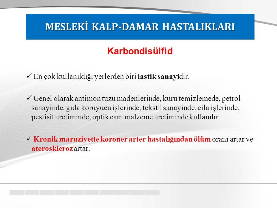 Karbondisülfid En çok kullanıldığı yerlerden biri lastik sanayidir.