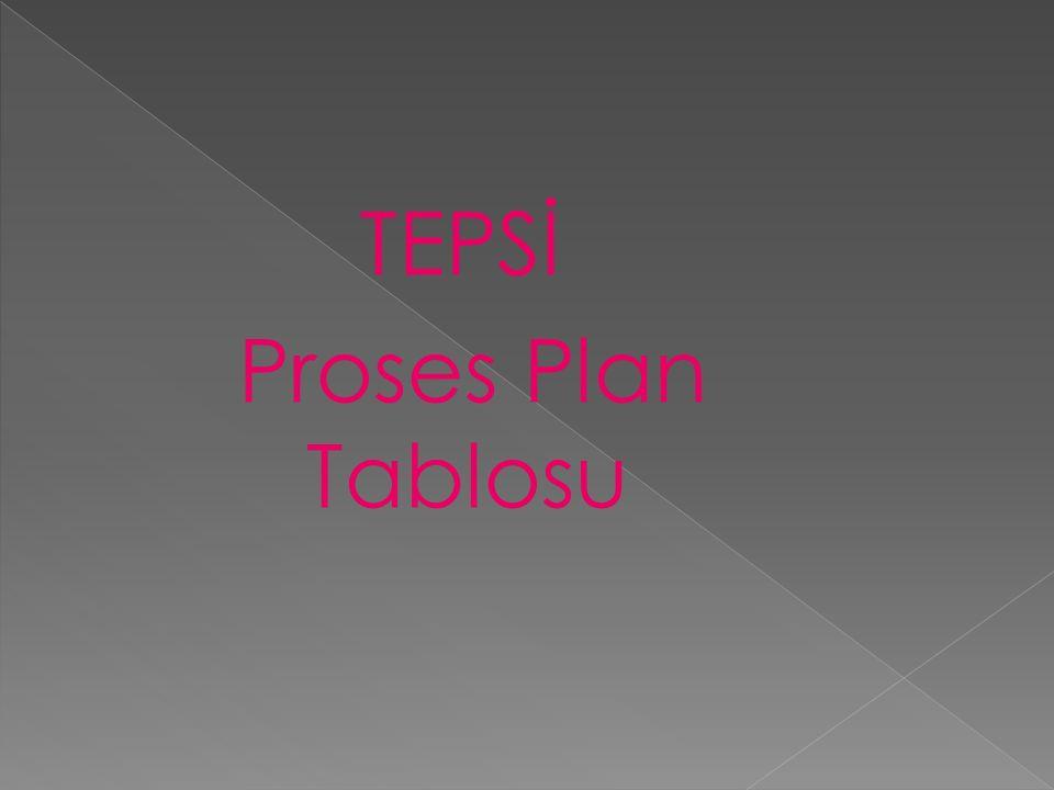 TEPSİ Proses Plan Tablosu
