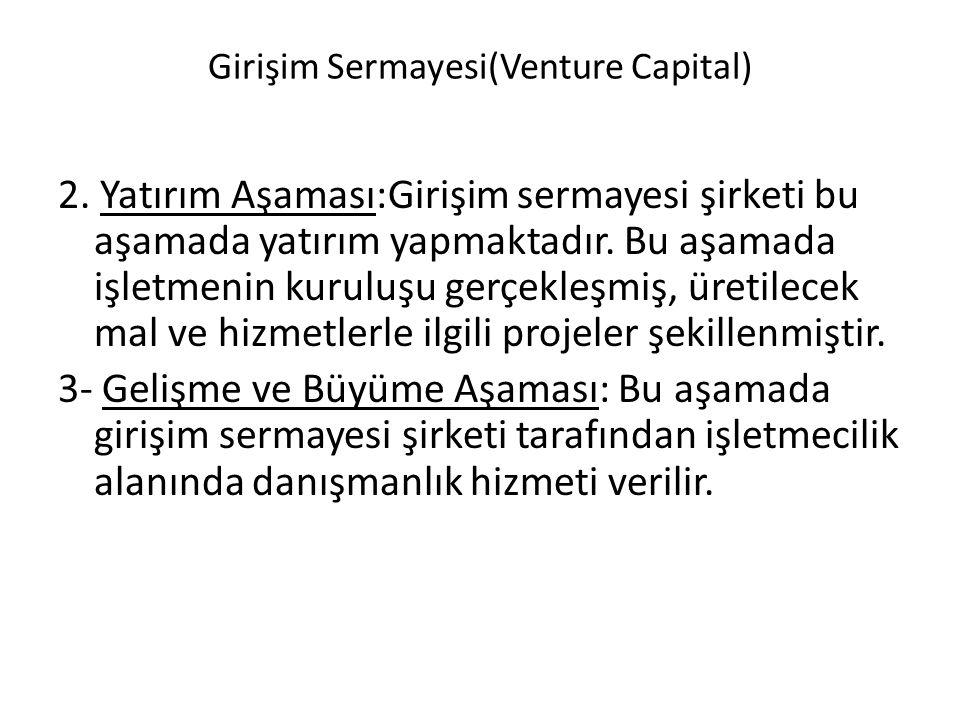 Girişim Sermayesi(Venture Capital) 2.