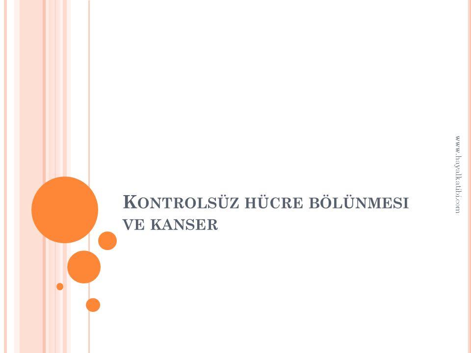 K ONTROLSÜZ HÜCRE BÖLÜNMESI VE KANSER www.hayalkatibi.com