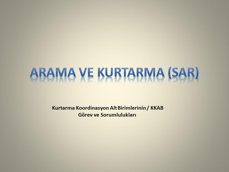 Kurtarma Koordinasyon Alt Birimlerinin / KKAB Görev ve Sorumlulukları